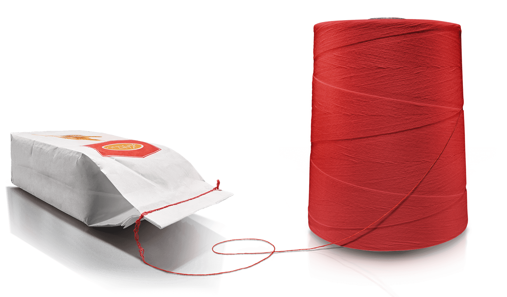Food packaging with thread from Zwirnerei Wutach.